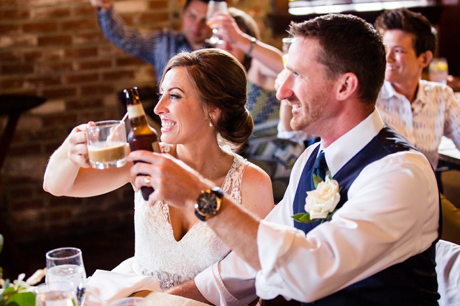We're crushing on this super darling couple and their breakfast-style wedding!