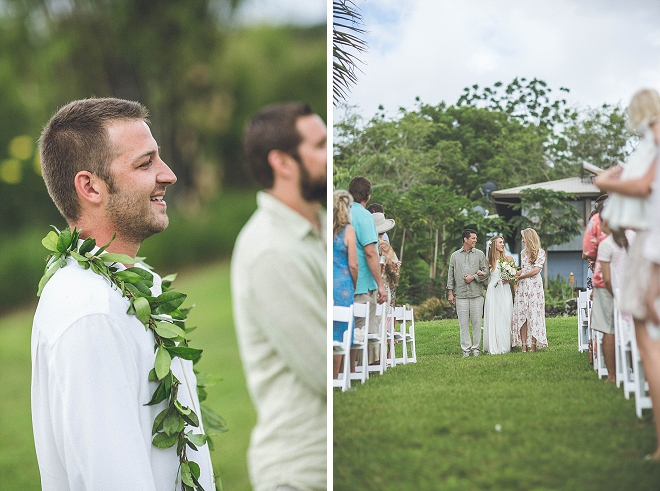 We're swooning over this stunning outdoor ceremony in Maui!