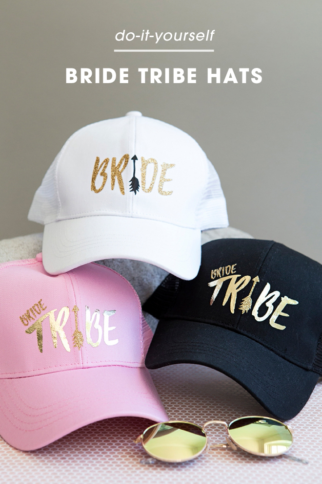 These DIY bride tribe hats are everything!