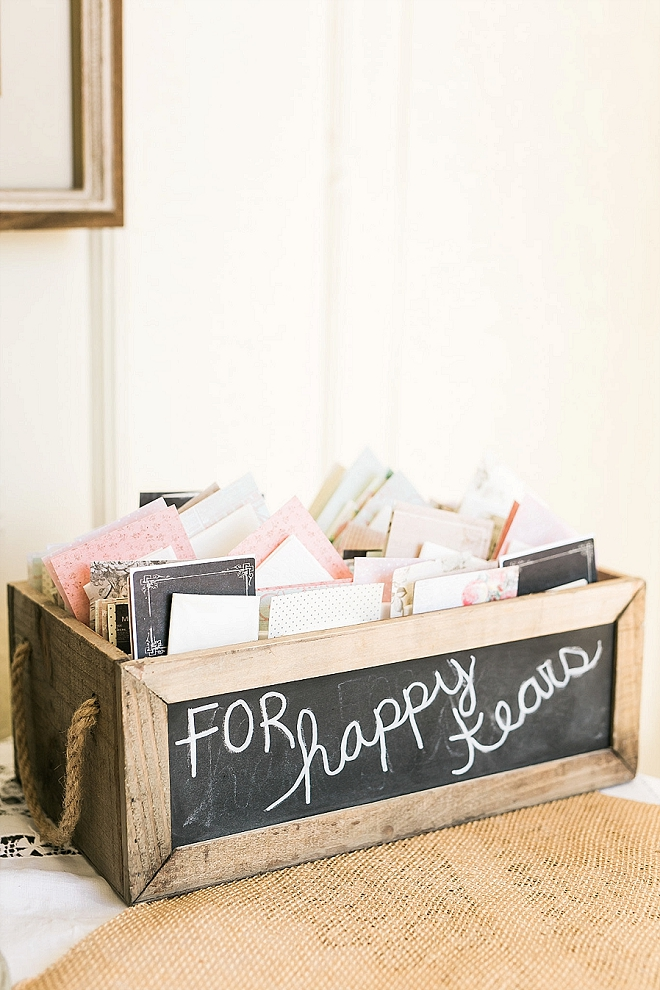 We love these for your happy tears ceremony favors - too cute!