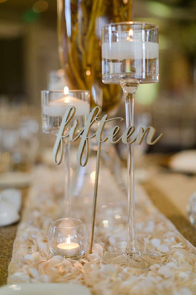 Loving this couple's glam and candle lit reception!