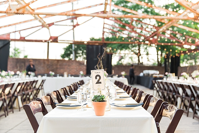 Family style reception seating is our favorite!