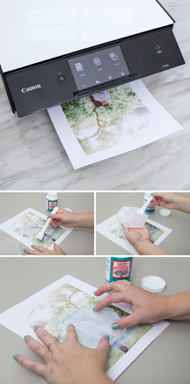 This DIY photo cake topper doubles as a keepsake!