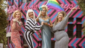 RuPaul's Madame Tussauds wax figure is officially welcomed to Sydney, with the help of professional drag queens_2