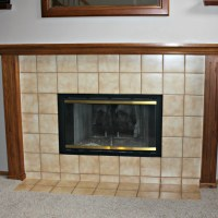 Oak Mantel Makeover