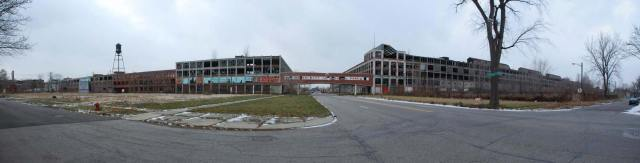 Packard factory panoramic shot circa 2010