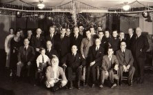 1930 Christmas party at Pressmen's Home. George Berry in the middle besides Santa Claus
