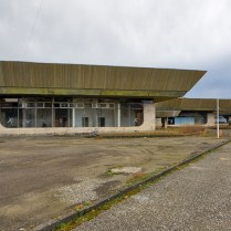 Abandoned Abkhazia airport terminal