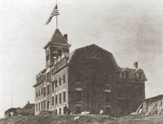 Morristown College Crary Hall Under construction 1898