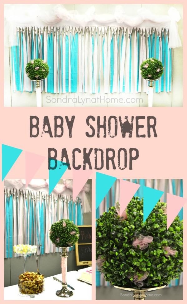 baby girl shower backdrop sondra lyn at home