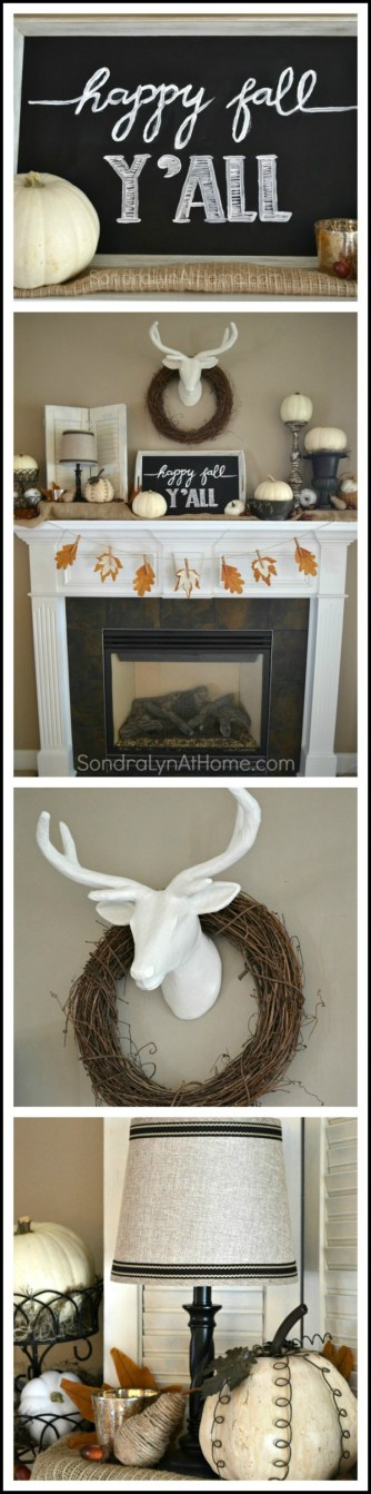 Fall Mantel 2015 - Sondra Lyn at Home.com- pinnable wtrmk-image
