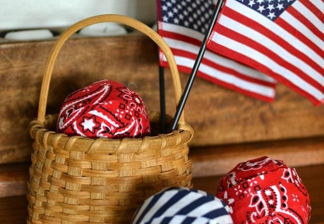 Patriotic Decor Filler Balls