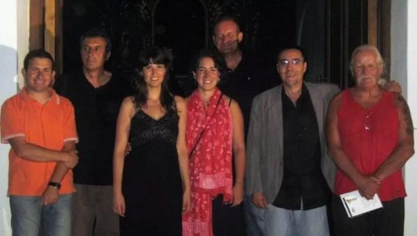 2010'VII'16, Oria. Concierto monográfico de mis canciones 'Darle luz al silencio' - con los organizadores de los Rincones de Música y Poesía