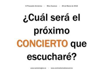 2016'III'26. Mira. IX Procesión armónica - pegatina CONCIERTO