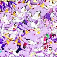 A lot of Blaze the Cat characters in one picture... and they all are nude and horny!