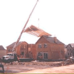 Hoisting Entire Residencial Roof