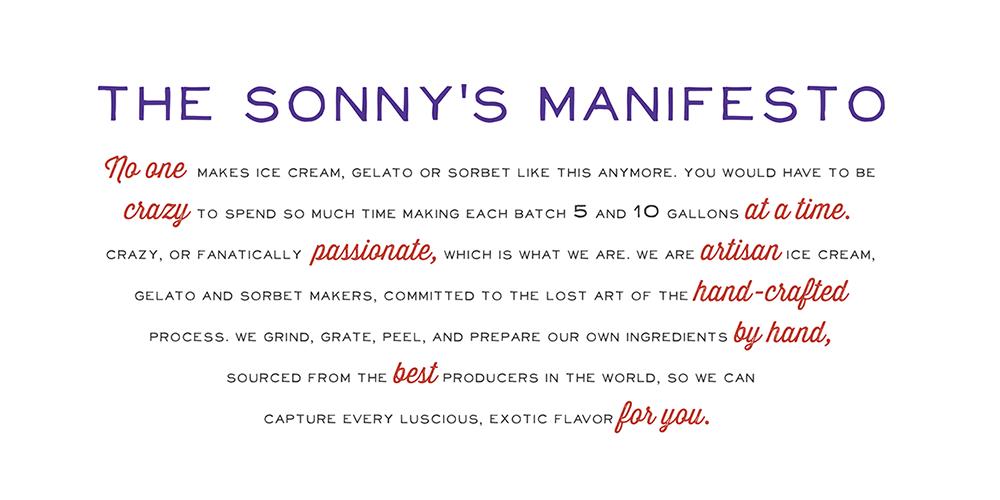 Sonny's Manifesto