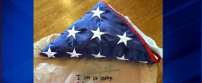 911 flag returned