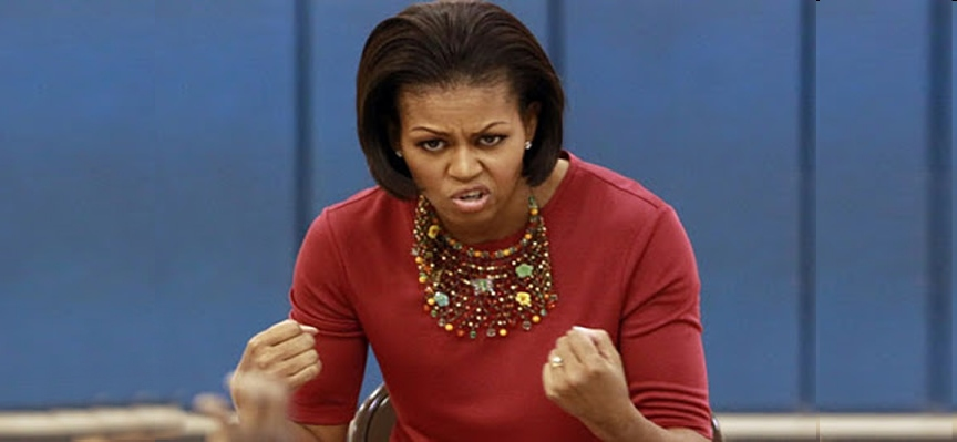 angry michelle obama