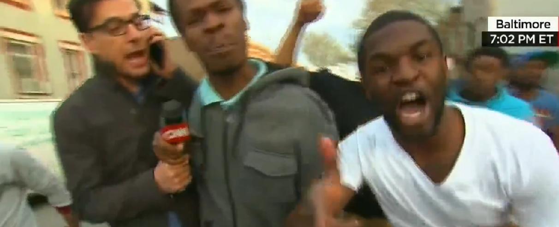 black cnn protesters