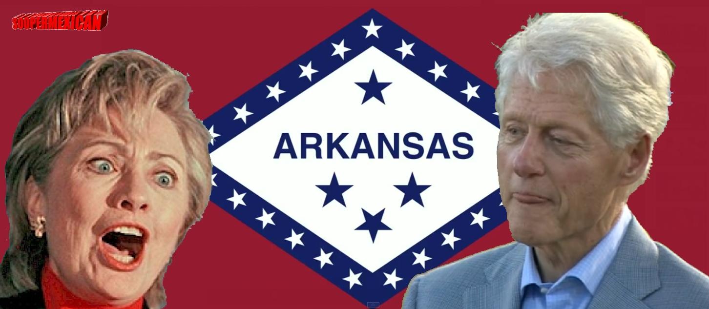 arkansas flag - hillary bill clinton -1