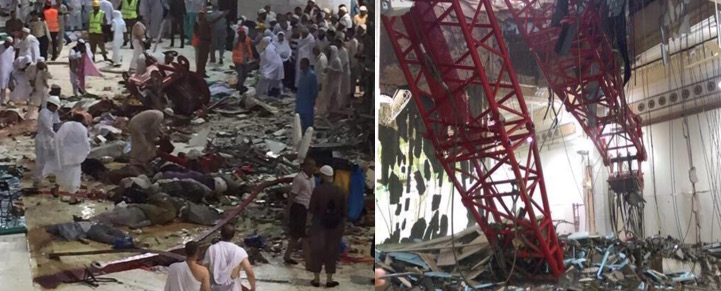 crane mosque collapse