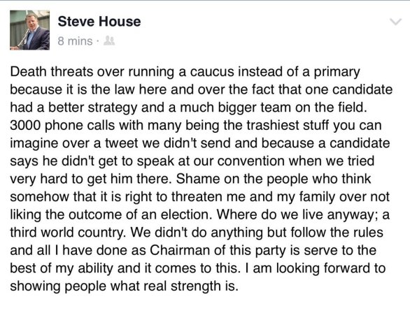 steve house death threats