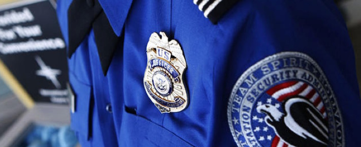 TSA officer badge police airport