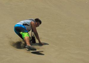 E sand surfing like a boss