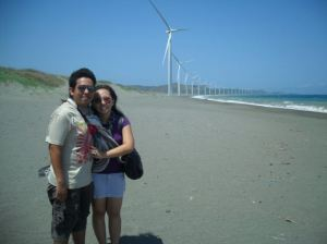 E and I at the Windmills of Bangui
