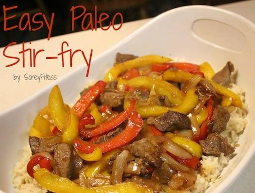 Paleo Cranberry Beef Stir Fry