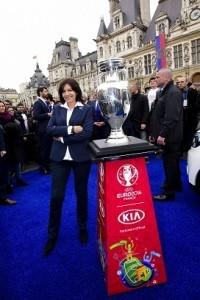 PARIS - UEFA - INAUGURATION DU TRAIN DE L'EURO 2016
