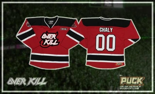TESTAMENT And OVERKILL Hockey Jerseys, Hoodies Available Through Custom Sportswear Brand PUCK HCKY