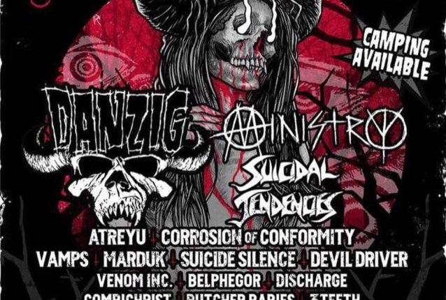 MINISTRY Performs New Song 'Antifa' At 'Blackest Of The Black' Festival (Video)