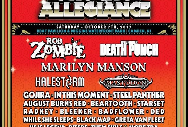 ROB ZOMBIE, FIVE FINGER DEATH PUNCH, MARILYN MANSON, HALESTORM Set For ROCK ALLEGIANCE Festival