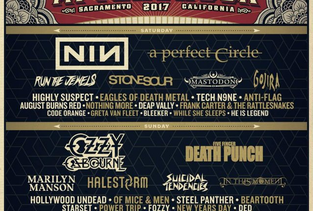 NINE INCH NAILS, OZZY OSBOURNE, A PERFECT CIRCLE  Set For AFTERSHOCK Festival