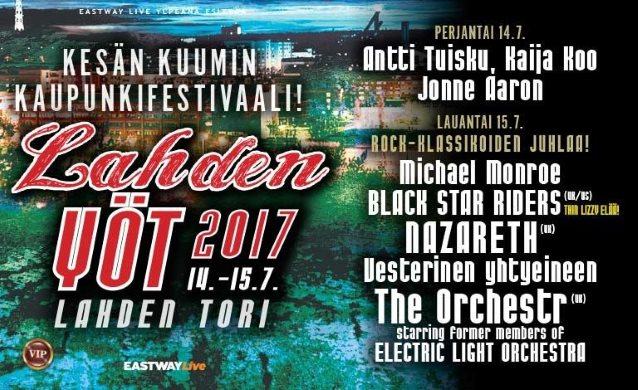 Video: MICHAEL MONROE Performs At Finland's LAHDEN YÖT Festival