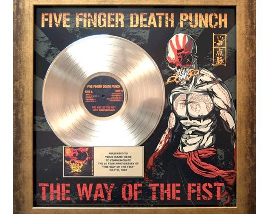 FIVE FINGER DEATH PUNCH Offers 'The Way Of The Fist' 10th-Anniversary Plaques To Fans