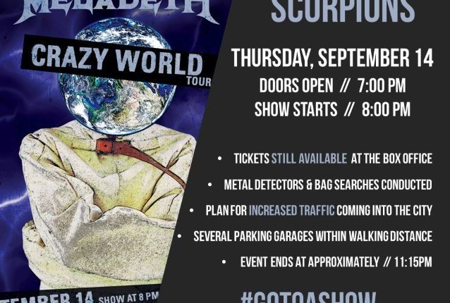 SCORPIONS: Quality Video Footage Of 'Crazy World' North American Tour Kick-Off