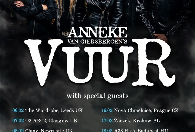 Ex-THE GATHERING Vocalist ANNEKE VAN GIERSBERGEN's VUUR: European Headlining Tour Announced