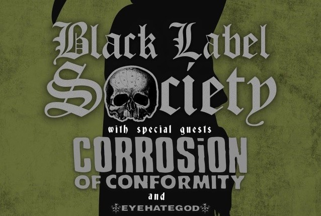 BLACK LABEL SOCIETY Announces Second Leg Of North American Tour With CORROSION OF CONFORMITY; BLABBERMOUTH.NET Presale