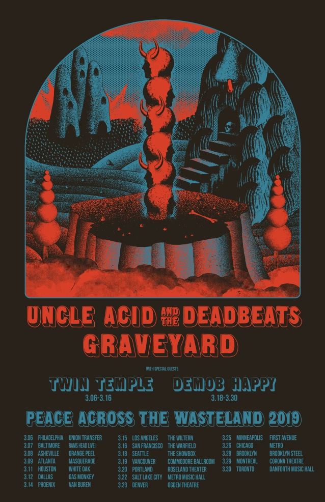 UNCLE ACID AND THE DEADBEATS And GRAVEYARD To Team Up For North American Co-Headlining Tour; BLABBERMOUTH.NET Presale