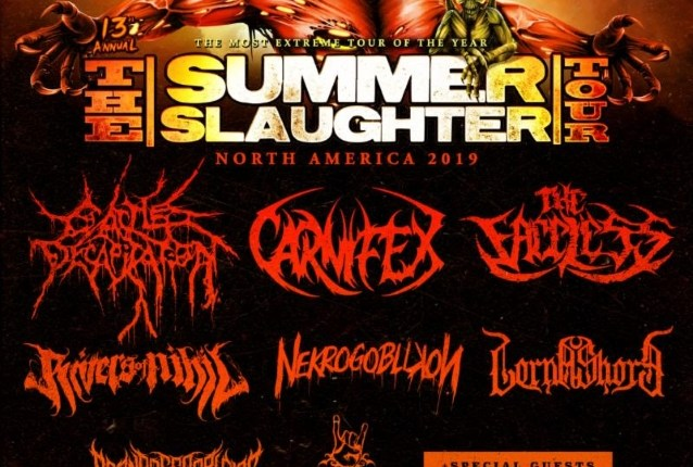 CATTLE DECAPITATION, CARNIFEX And THE FACELESS To Headline This Year's 'Summer Slaughter Tour'