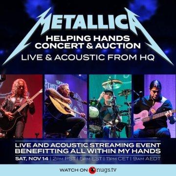 METALLICA's 'Helping Hands Concert & Auction' Raises More Than $1.3 Million