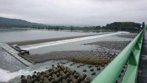 富士川橋から見る富士川(水量多め)