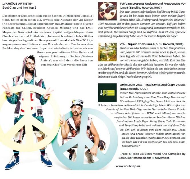 Soul Clap in Faze Mag November