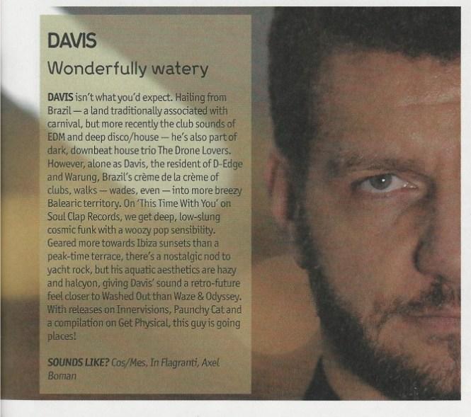 Davis is in DJ Mag!