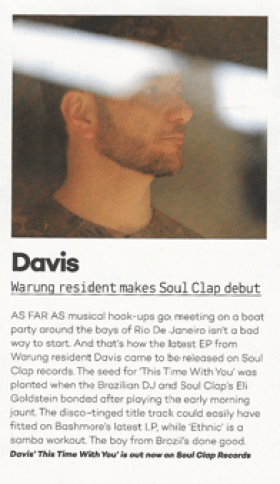 Davis in Mixmag!