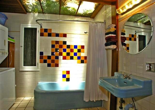 Bath with skylight