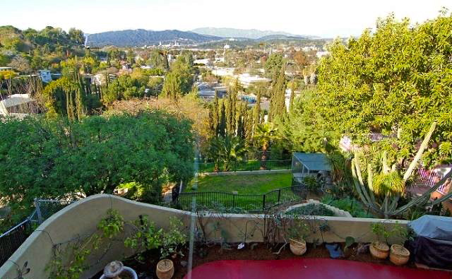 Patio, yard and views. Listed by Joseph Lightfoot – Sotheby's Los Feliz